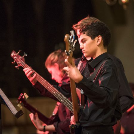 Oundle Church guitarists from OSJO1 giving their all.